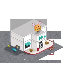 Bunny Burger Fast Food by BurgerBunny