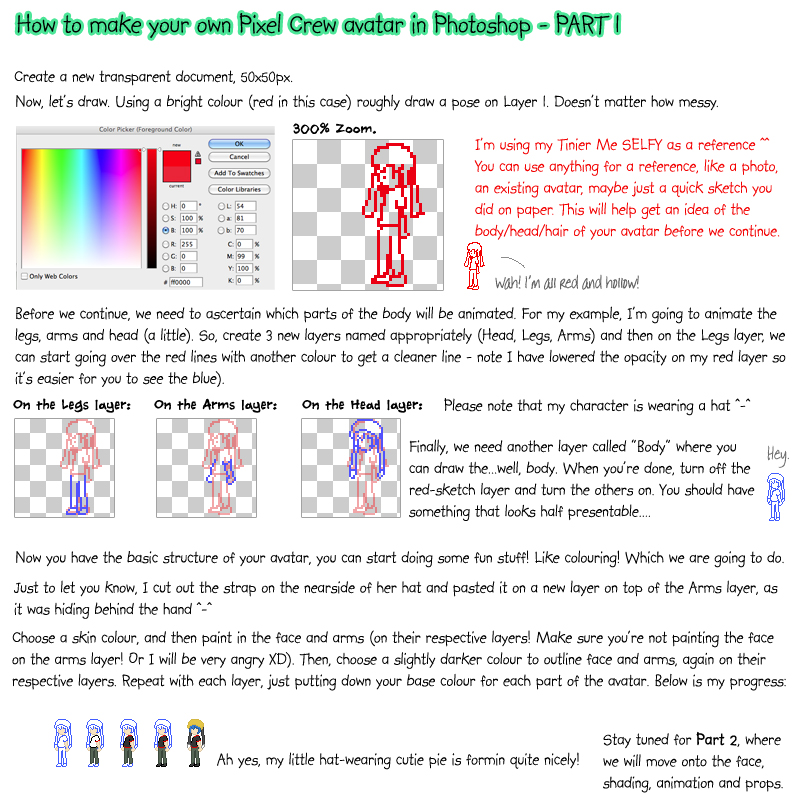 Pixel Crew Avatar Tutorial 1 by BurgerBunny