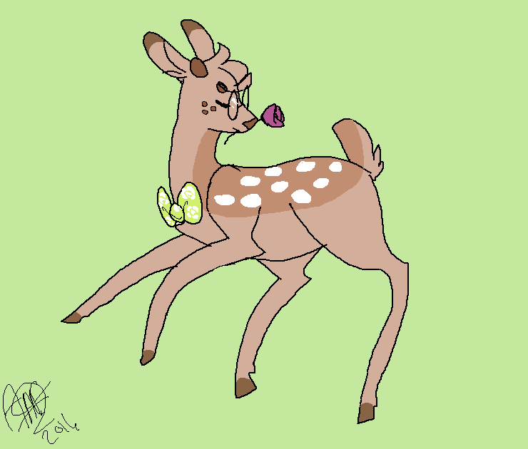 Pepper likes flowers too by darlingdeers