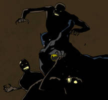 Batman vs Zombies by vanillajester