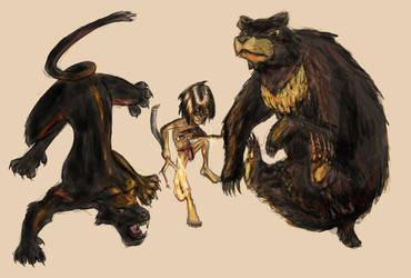 Mowgli and Friends by vanillajester