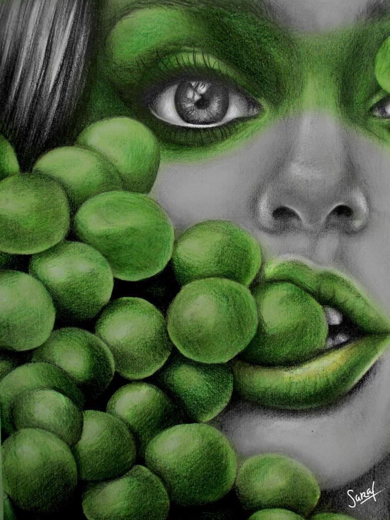 Green Grapes, Green Shapes. by Sarickbanana