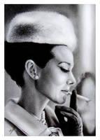 Audrey Hepburn by Sarickbanana