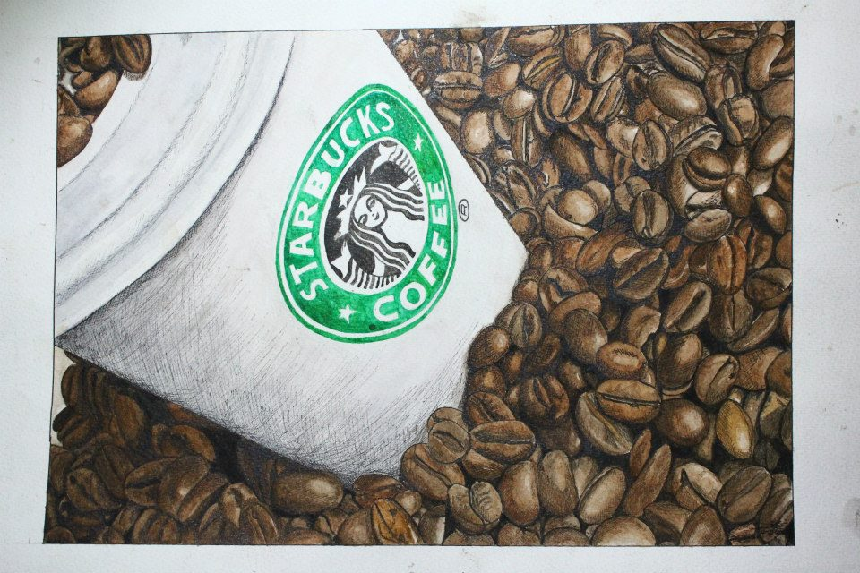 Starbucks - Watercolor and ink by eistienejohn