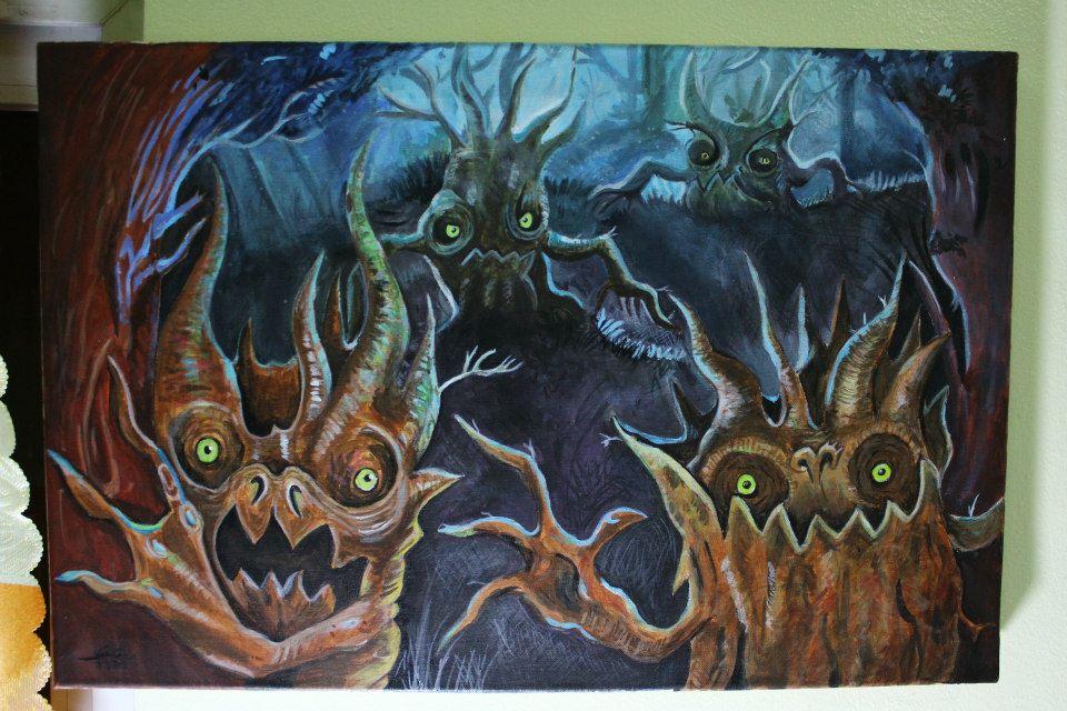 Fantasy - Acrylic on canvas by eistienejohn