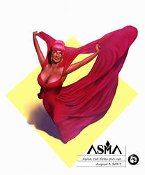 ASMA Red Dress PinUp