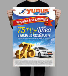 Yunus Market Linea Kampanya Tasarimlari Poster by caginoz