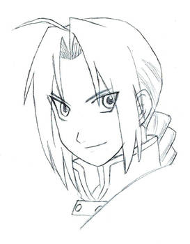Edward Elric lineart 6