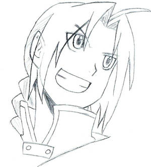 Edward Elric lineart 7