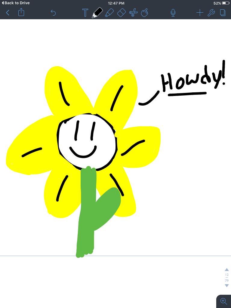Flowey with big petals by Timelady1158