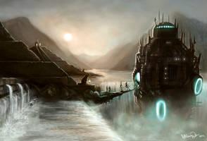 Aztecs and Aliens by hayleymerrington
