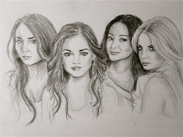 Pretty little liars by bestafridur on deviantart for Pretty little liars coloring pages