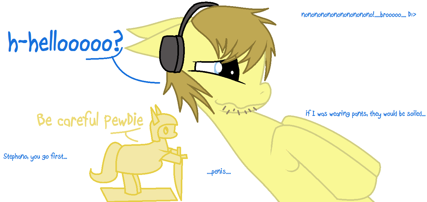 PewDiePie Pony by Black-Rose-Emy