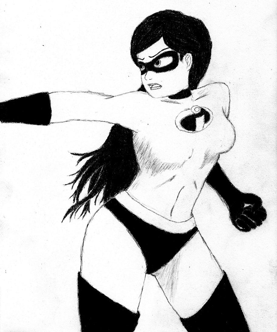Violet Parr sketch by Phantalus