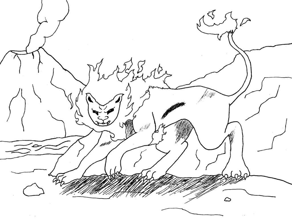 Flame Lion by Phantalus