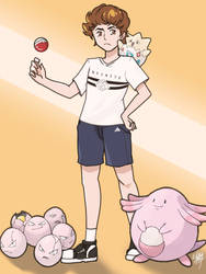 Egg Boy as a Pokemon Trainer by Ishti-lodi1997