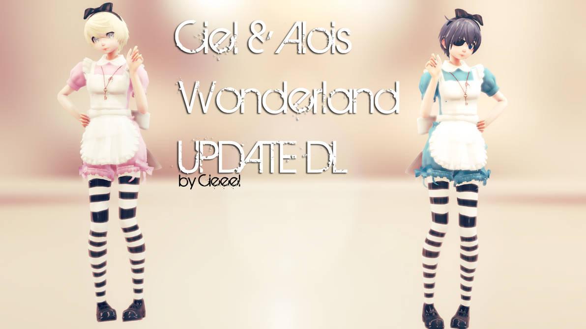 MMD: Ciel and Alois in Wonderland UPDATE + DL by Cieeel