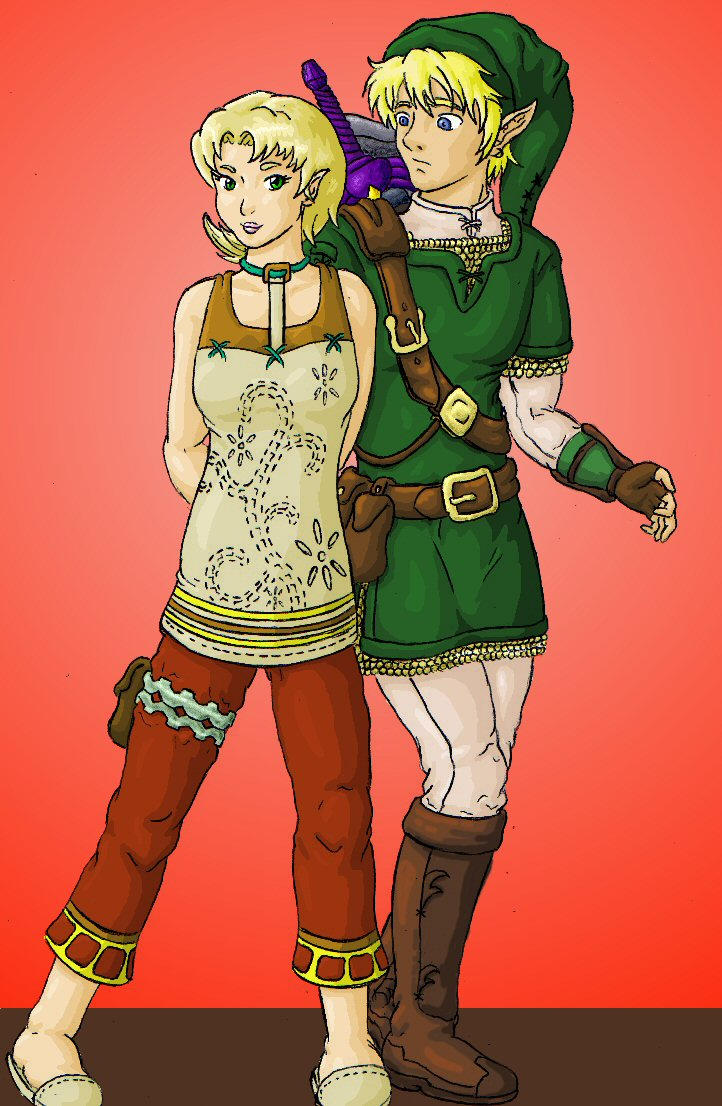 Link Reunites with Ilia by Zeldablue on DeviantArt