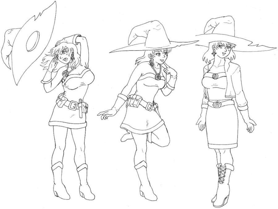Evil Witch Drawing Witch Drawings Witch Drawings