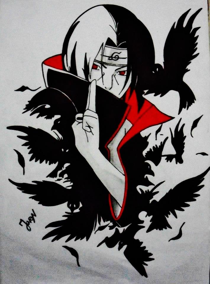 itachi uchiha crows wallpaperItachi Crows Wallpaper