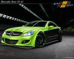 Mercedes SL 63 green