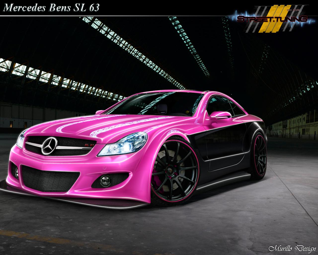 Mercedes sl 63 pink by murillodesign on deviantart for Pink mercedes benz
