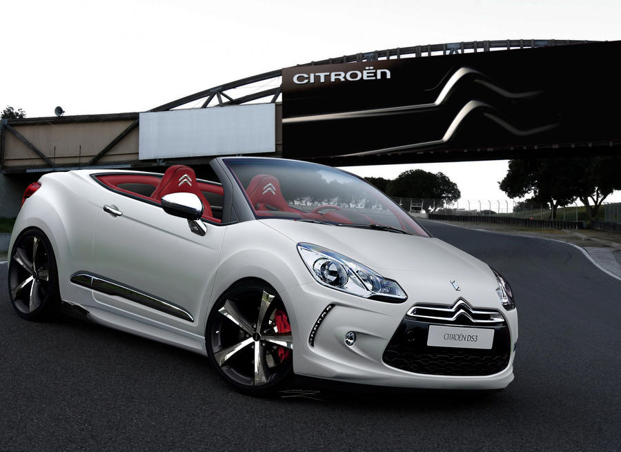 citroen ds3 cabrio white by murillodesign on deviantart. Black Bedroom Furniture Sets. Home Design Ideas