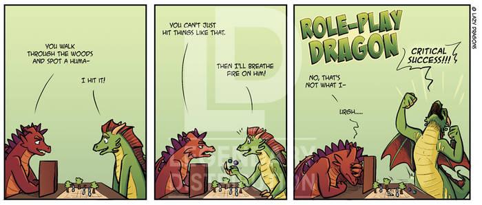 Role Play Dragon Comic