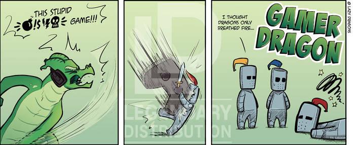 Gamer Dragon Comic