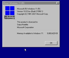 About Windows 11 Beta Box Classic 9x Style !