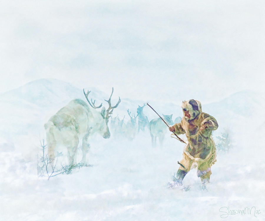 Caribou Hunt by Shawna Mac by ~ShawnaMac