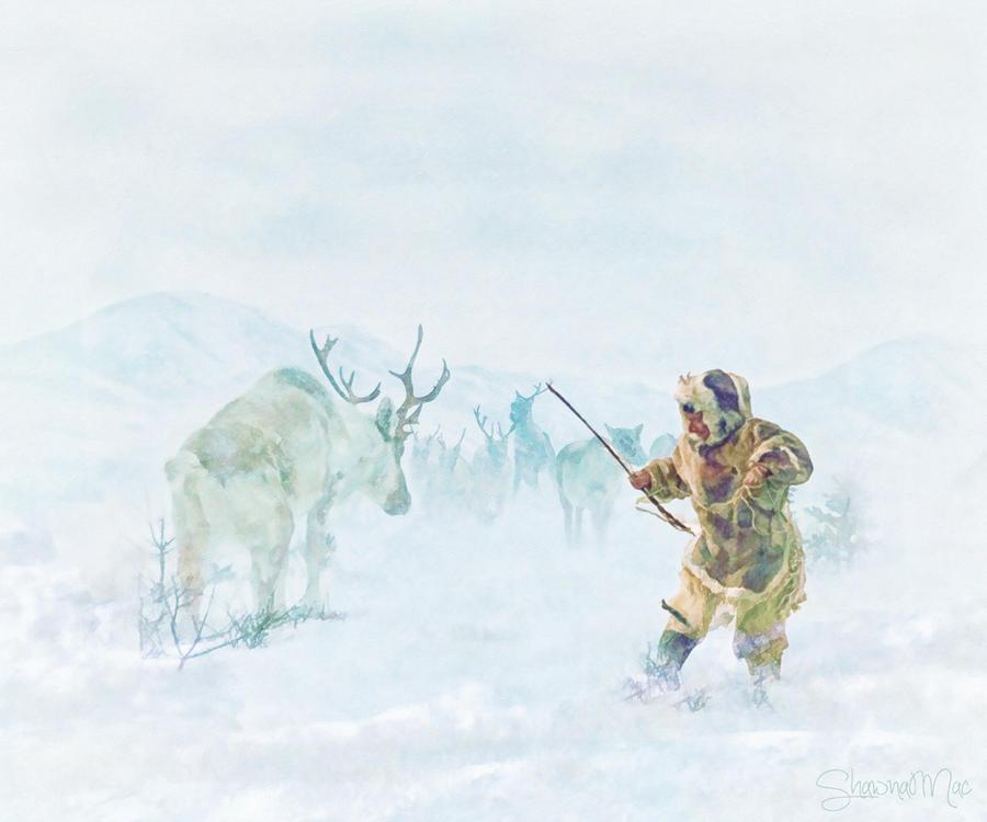 Caribou Hunt by Shawna Mac by ShawnaMac