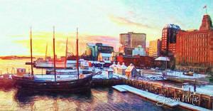 Halifax Waterfront on a January Dawn by Shawna Mac