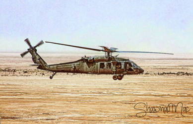 Blackhawk Helicopter by Shawna Mac