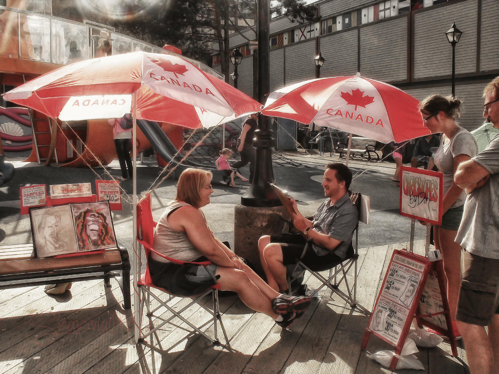 Caricature Artist on the Halifax Waterfront by ShawnaMac ...