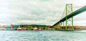 Autumn at the MacKay Bridge in Halifax Nova Scotia