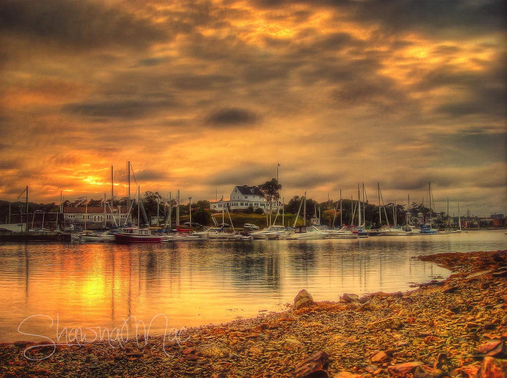 Armdale Yacht Club at Sunset Halifax Nova Scotia by ShawnaMac