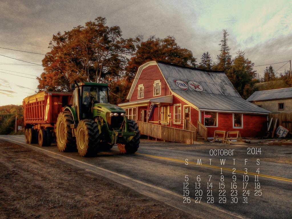 Free October 2014 Desktop Calendar by ShawnaMac