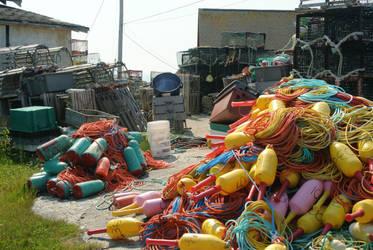 Peggys Cove Fish Nets by ShawnaMac