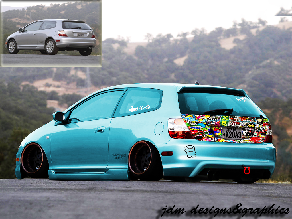 honda civic si 2004 1024x768 wallpaper 06 by jdm designs graphics on