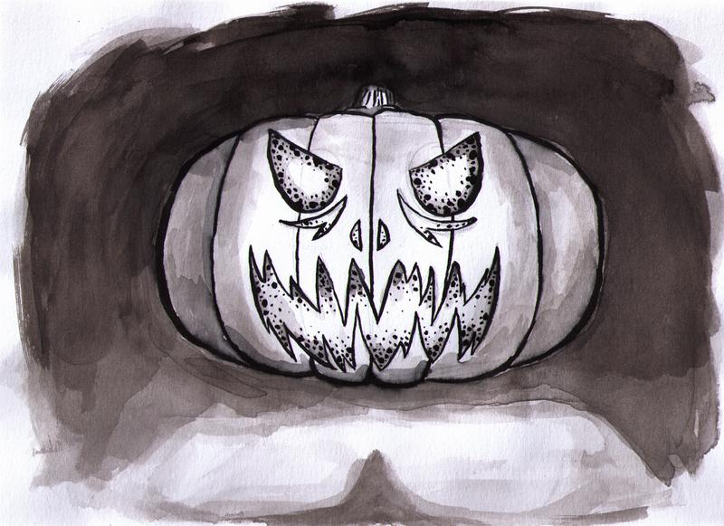 Ink Pumpkin by Lazy-a-Ile