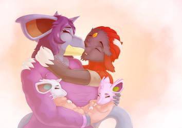 Knight Academy - Happy Family by Lazy-a-Ile