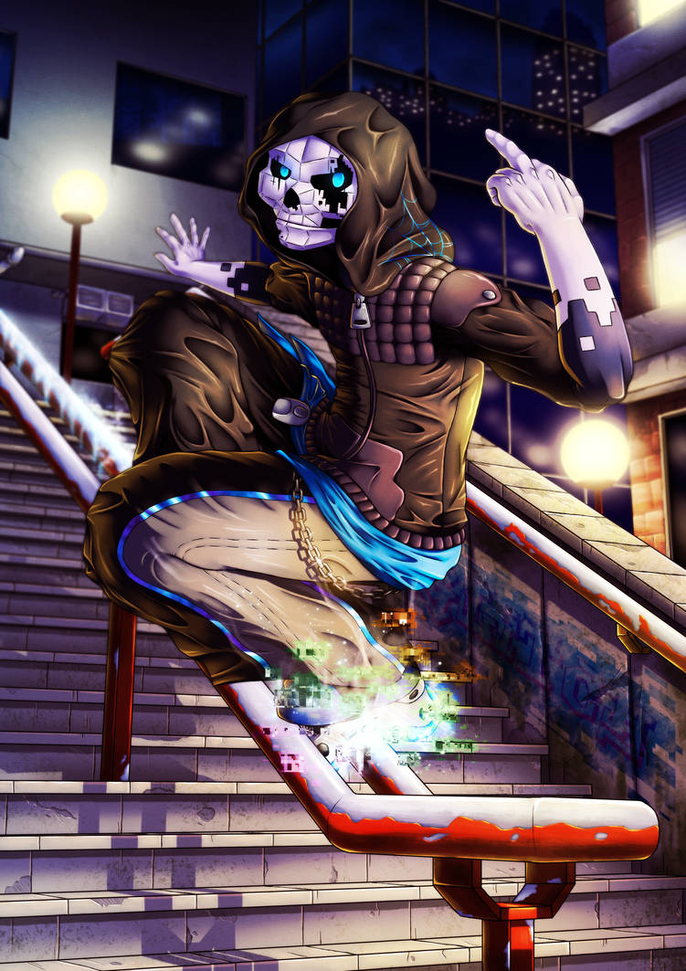 Shredding the Downtown by Lazy-a-Ile