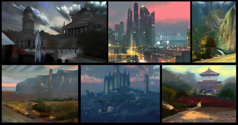 Digital Landscape Painting Lessons 19-24