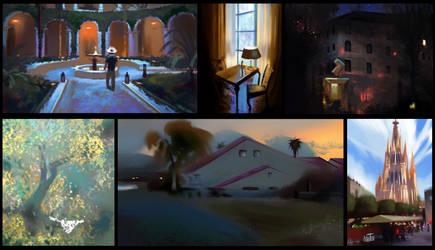 Digital Landscape Painting Lessons 25-30
