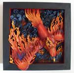 Phoenix in Flames Shadowbox