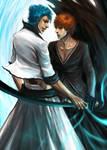 Grimmjow Ichigo by rumbl3fishy