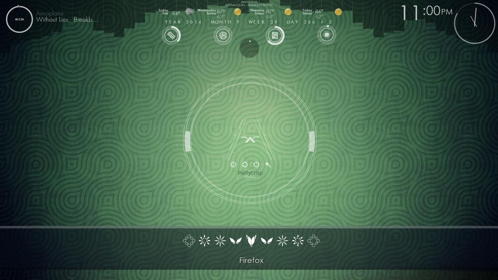 Simple Custom Rainmeter layout by PuffyCrisp on DeviantArt