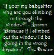 Out the Window - Doctor Who by EllieJelly666