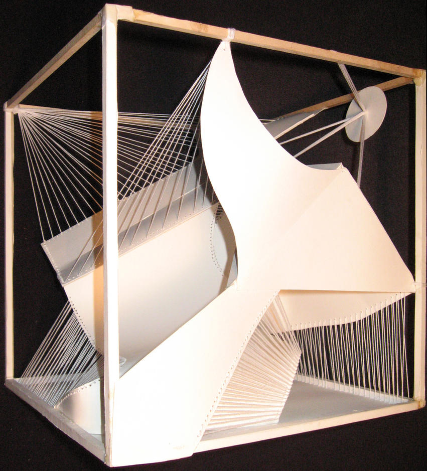 Paper string cube v3 by smackerkracker on deviantart - String art modele ...